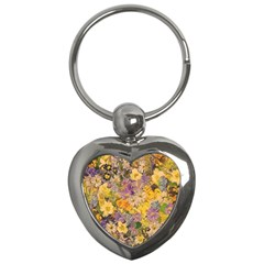 Spring Flowers Effect Key Chain (heart)