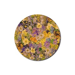Spring Flowers Effect Drink Coaster (Round)