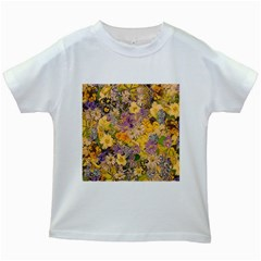 Spring Flowers Effect Kids' T-shirt (White)