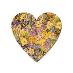 Spring Flowers Effect Magnet (Heart)