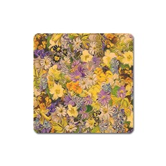 Spring Flowers Effect Magnet (Square)
