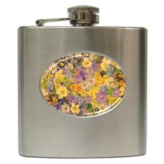 Spring Flowers Effect Hip Flask