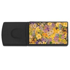 Spring Flowers Effect 1GB USB Flash Drive (Rectangle)