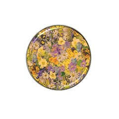 Spring Flowers Effect Golf Ball Marker 4 Pack (for Hat Clip)