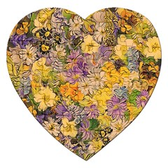 Spring Flowers Effect Jigsaw Puzzle (Heart)
