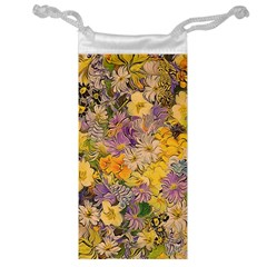 Spring Flowers Effect Jewelry Bag