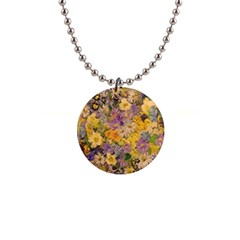 Spring Flowers Effect Button Necklace