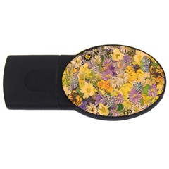 Spring Flowers Effect 4GB USB Flash Drive (Oval)