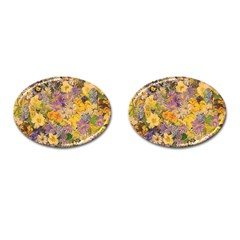 Spring Flowers Effect Cufflinks (oval)