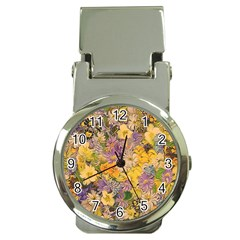 Spring Flowers Effect Money Clip with Watch
