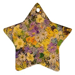 Spring Flowers Effect Star Ornament (Two Sides)