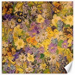 Spring Flowers Effect Canvas 12  x 12  (Unframed)