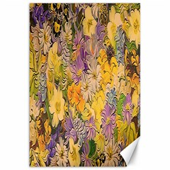 Spring Flowers Effect Canvas 20  x 30  (Unframed)