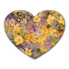 Spring Flowers Effect Mouse Pad (Heart)