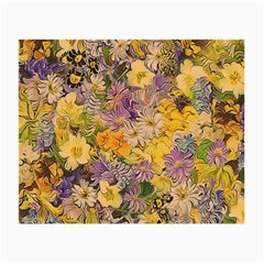 Spring Flowers Effect Glasses Cloth (Small, Two Sided)