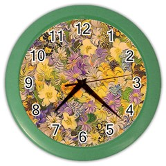 Spring Flowers Effect Wall Clock (Color)