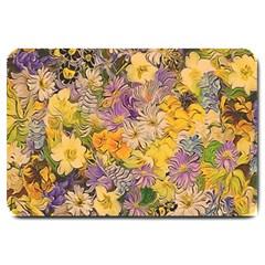 Spring Flowers Effect Large Door Mat