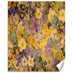 Spring Flowers Effect Canvas 11  X 14  (unframed)