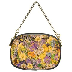 Spring Flowers Effect Chain Purse (one Side)