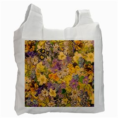 Spring Flowers Effect Recycle Bag (two Sides)