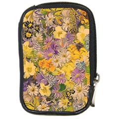 Spring Flowers Effect Compact Camera Leather Case