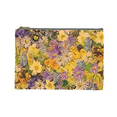 Spring Flowers Effect Cosmetic Bag (large)