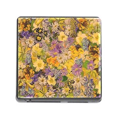 Spring Flowers Effect Memory Card Reader with Storage (Square)