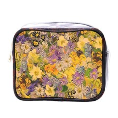 Spring Flowers Effect Mini Travel Toiletry Bag (One Side)