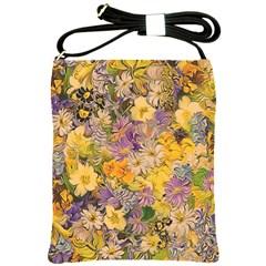 Spring Flowers Effect Shoulder Sling Bag