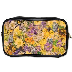 Spring Flowers Effect Travel Toiletry Bag (two Sides)