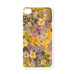 Spring Flowers Effect Apple iPhone 4 Case (White)