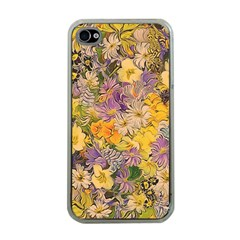 Spring Flowers Effect Apple iPhone 4 Case (Clear)