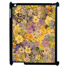 Spring Flowers Effect Apple iPad 2 Case (Black)