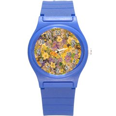 Spring Flowers Effect Plastic Sport Watch (small)