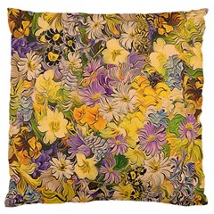 Spring Flowers Effect Large Cushion Case (Two Sided)