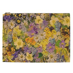 Spring Flowers Effect Cosmetic Bag (xxl)