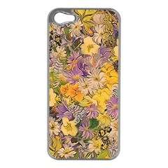 Spring Flowers Effect Apple iPhone 5 Case (Silver)