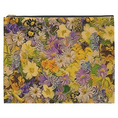 Spring Flowers Effect Cosmetic Bag (xxxl)
