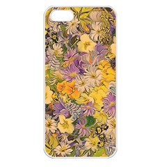 Spring Flowers Effect Apple iPhone 5 Seamless Case (White)