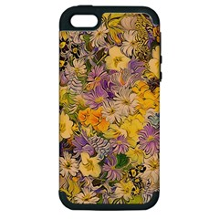 Spring Flowers Effect Apple Iphone 5 Hardshell Case (pc+silicone)