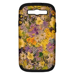 Spring Flowers Effect Samsung Galaxy S III Hardshell Case (PC+Silicone)