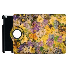 Spring Flowers Effect Apple iPad 2 Flip 360 Case