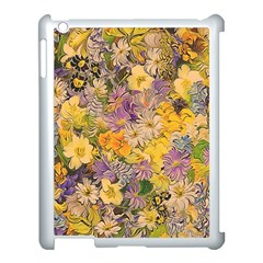 Spring Flowers Effect Apple iPad 3/4 Case (White)