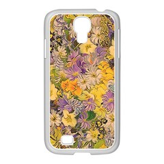 Spring Flowers Effect Samsung GALAXY S4 I9500/ I9505 Case (White)