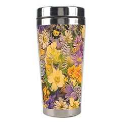 Spring Flowers Effect Stainless Steel Travel Tumbler
