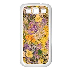 Spring Flowers Effect Samsung Galaxy S3 Back Case (White)