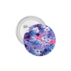 Spring Flowers Blue 1.75  Button