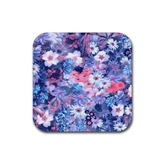 Spring Flowers Blue Drink Coasters 4 Pack (Square)