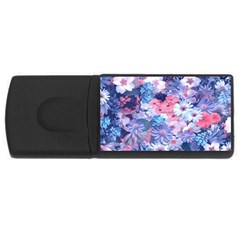 Spring Flowers Blue 1GB USB Flash Drive (Rectangle)