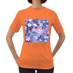 Spring Flowers Blue Womens' T-shirt (Colored)